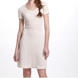 Gilt Grid Sweater Dress by Anthropologie Sparrow